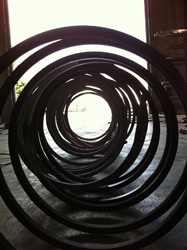 rolled steel art sculpture photo